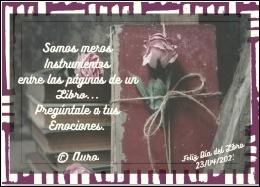 DÍA DEL LIBRO- AURORATRIS ♥