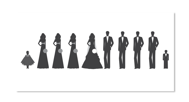 bridal party silhouette clip art pictures to pin on pinterest pinsdaddy. Black Bedroom Furniture Sets. Home Design Ideas