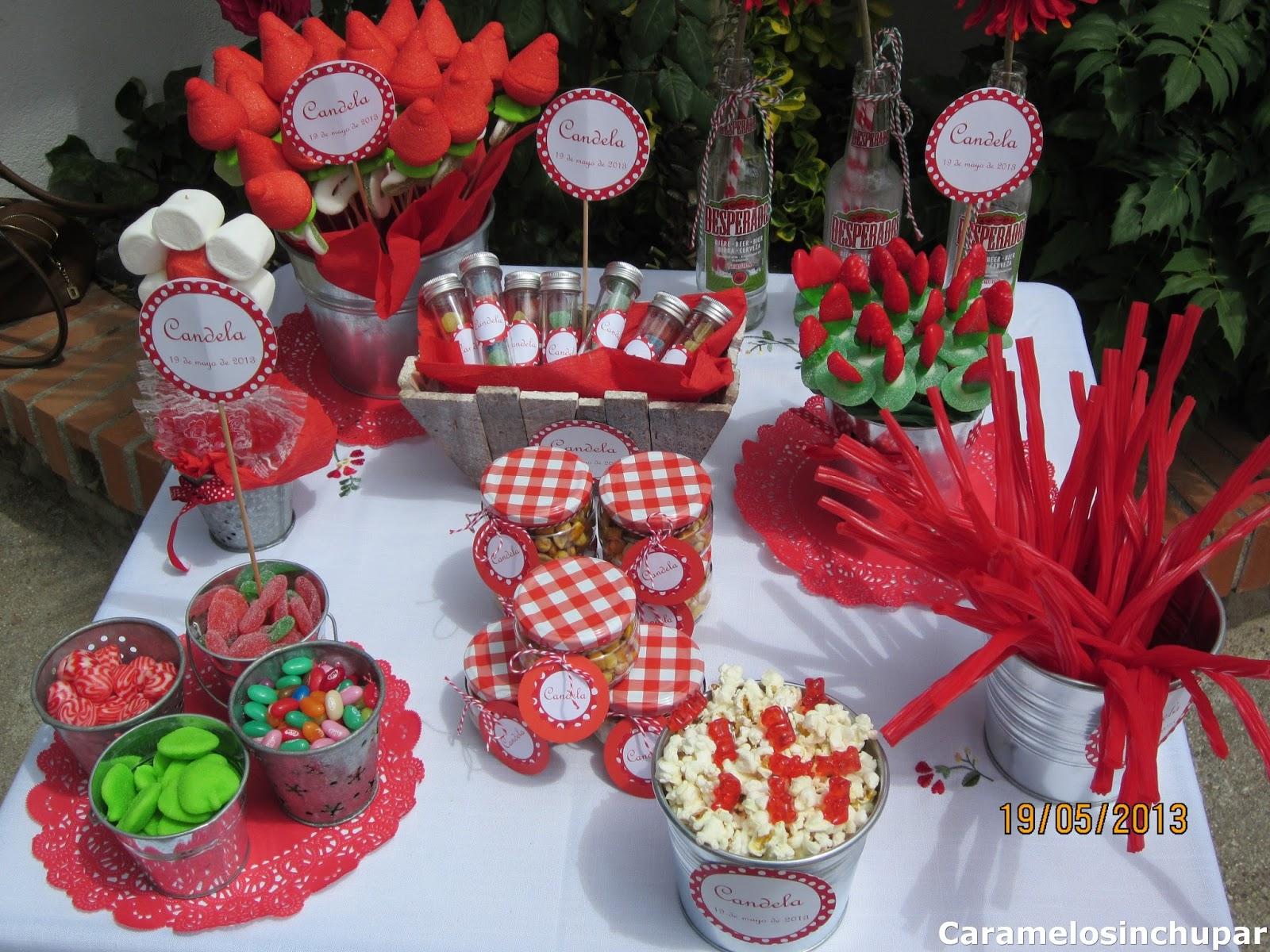Olivilla olivilla mesas de chuches para eventos for Ideas para mesas de chuches