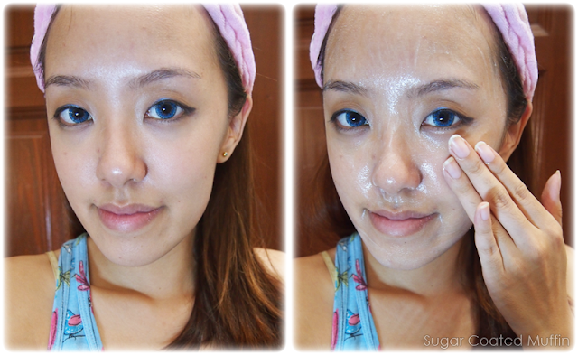 Removing makeup with Sothys Vitality Cleansing Milk