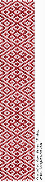 Две схемы браслетов - славянские узоры - мозаика peyote patterns