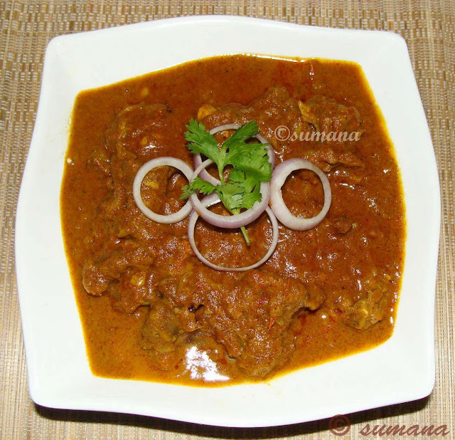 Malwani mutton is a medium spicy mutton curry made in Malwani style