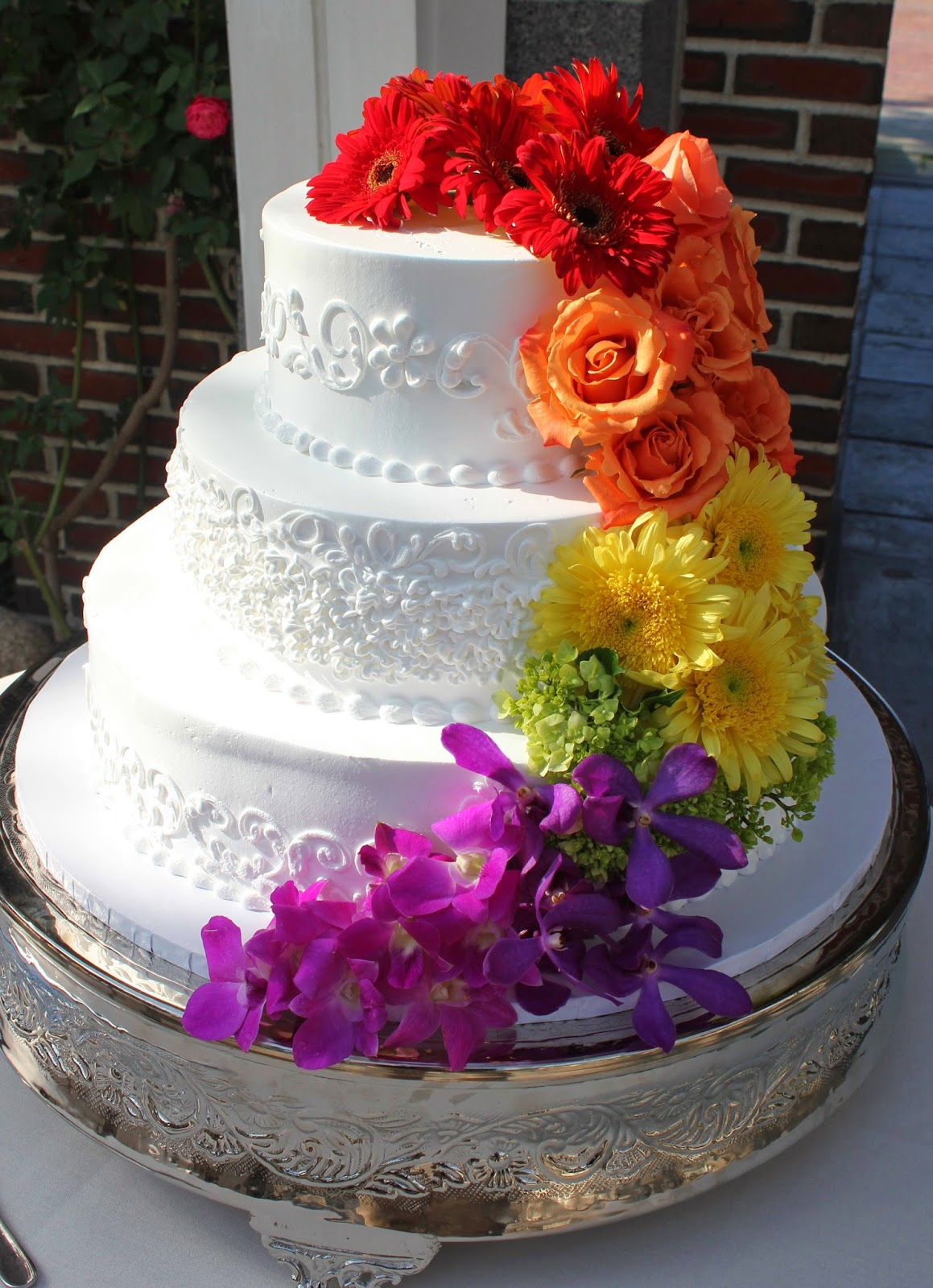 jeff french floral & event design: Rainbow Cake + Arrangements