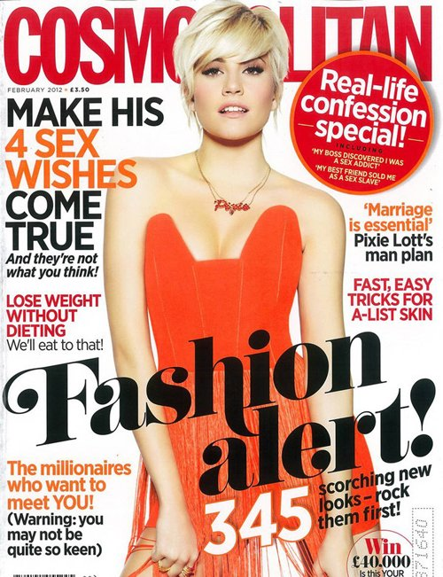 Pixie Lott Covers Cosmopolitan UK February 2012 Photoshoot