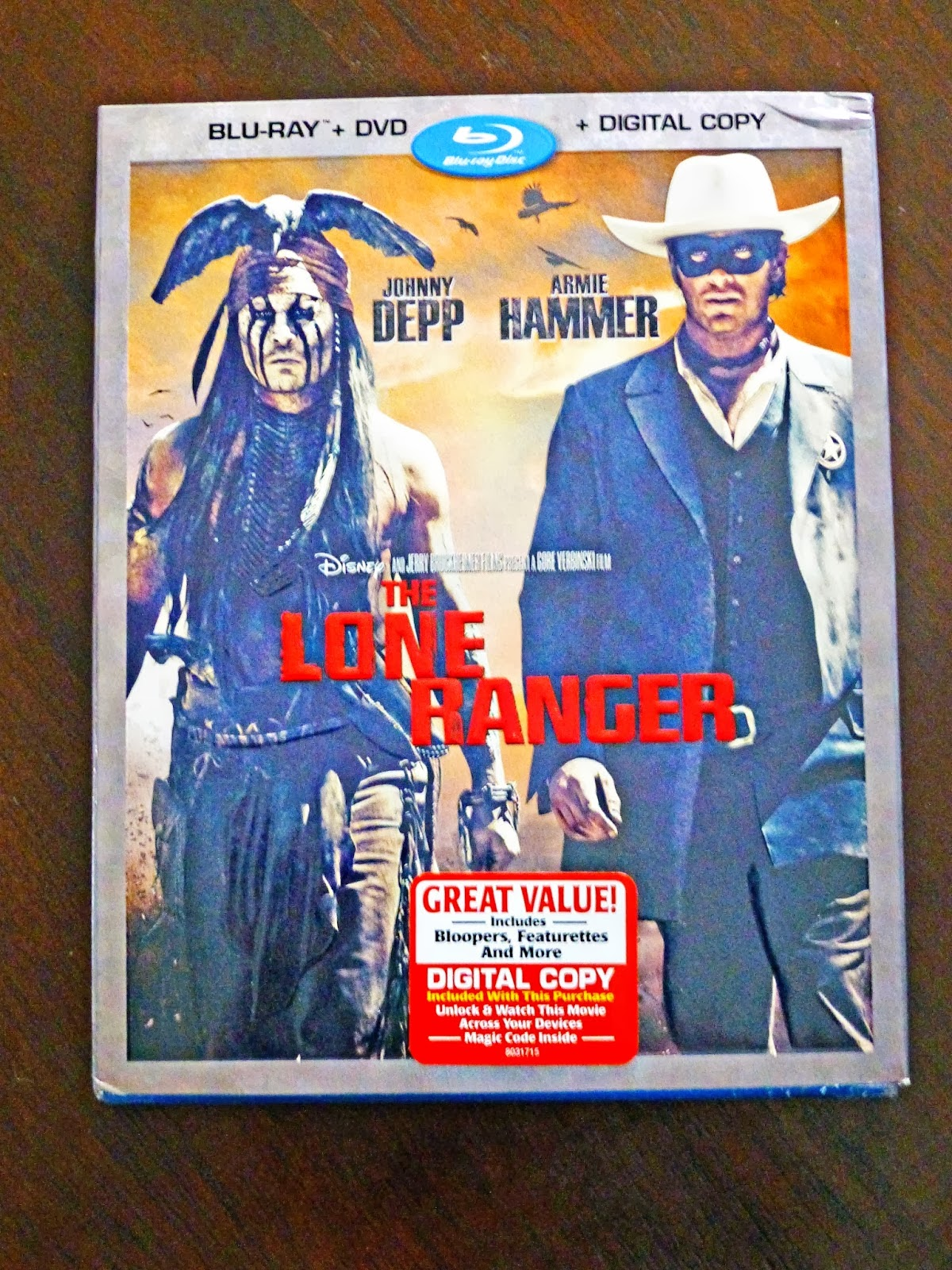Enter To Win The Lone Ranger Blu-Ray