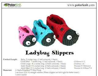 LadyBug Slippers Knitting Pattern