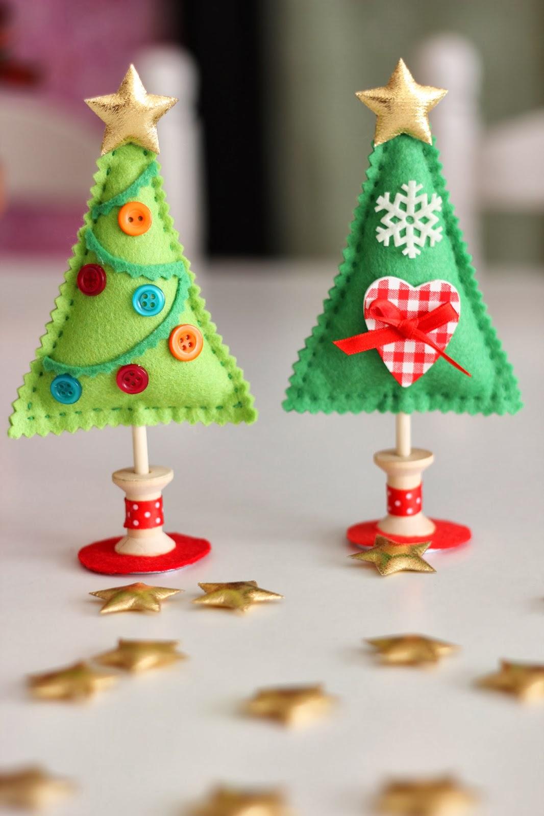 Mi hogar de patchwork arbol de navidad de fieltro - Arbol navidad manualidades ...
