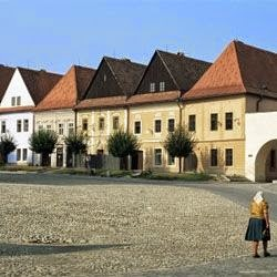 Woman in Ruthenia Town Square, Bardejov, Unesco World Heritage Site