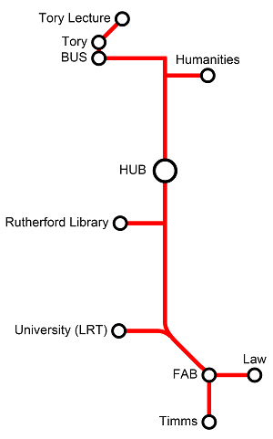 The Rutherford Line Pedway Map - UAlberta