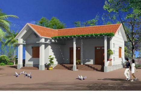 Mẫu thiết kế nhà cấp 4 nông thôn đơn giản phong cách mới