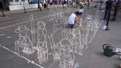 LEGO 3D Floor Art