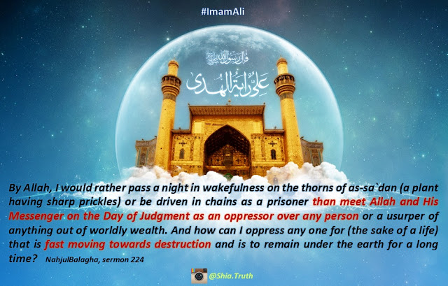 Shia Truth: Hadith of Imam Ali (NahjulBalagha) about world, oppression and day of Judgment - حدیث از امام علی نهج البلاغه Shia