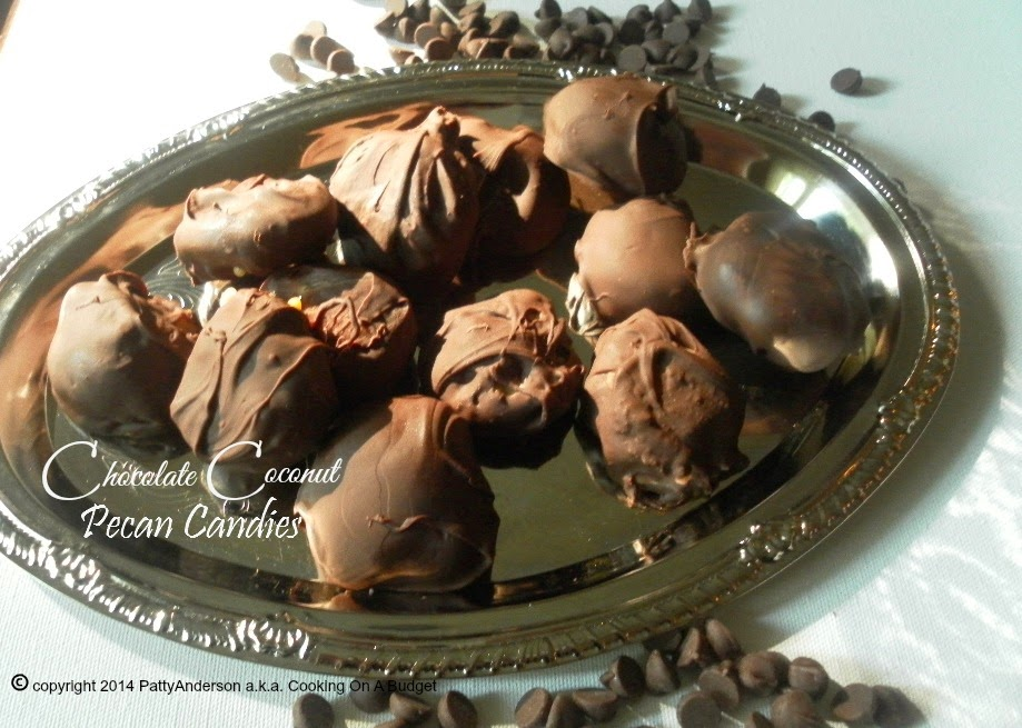 24 Candy Ideas: Chocolate Coconut Pecan Candies