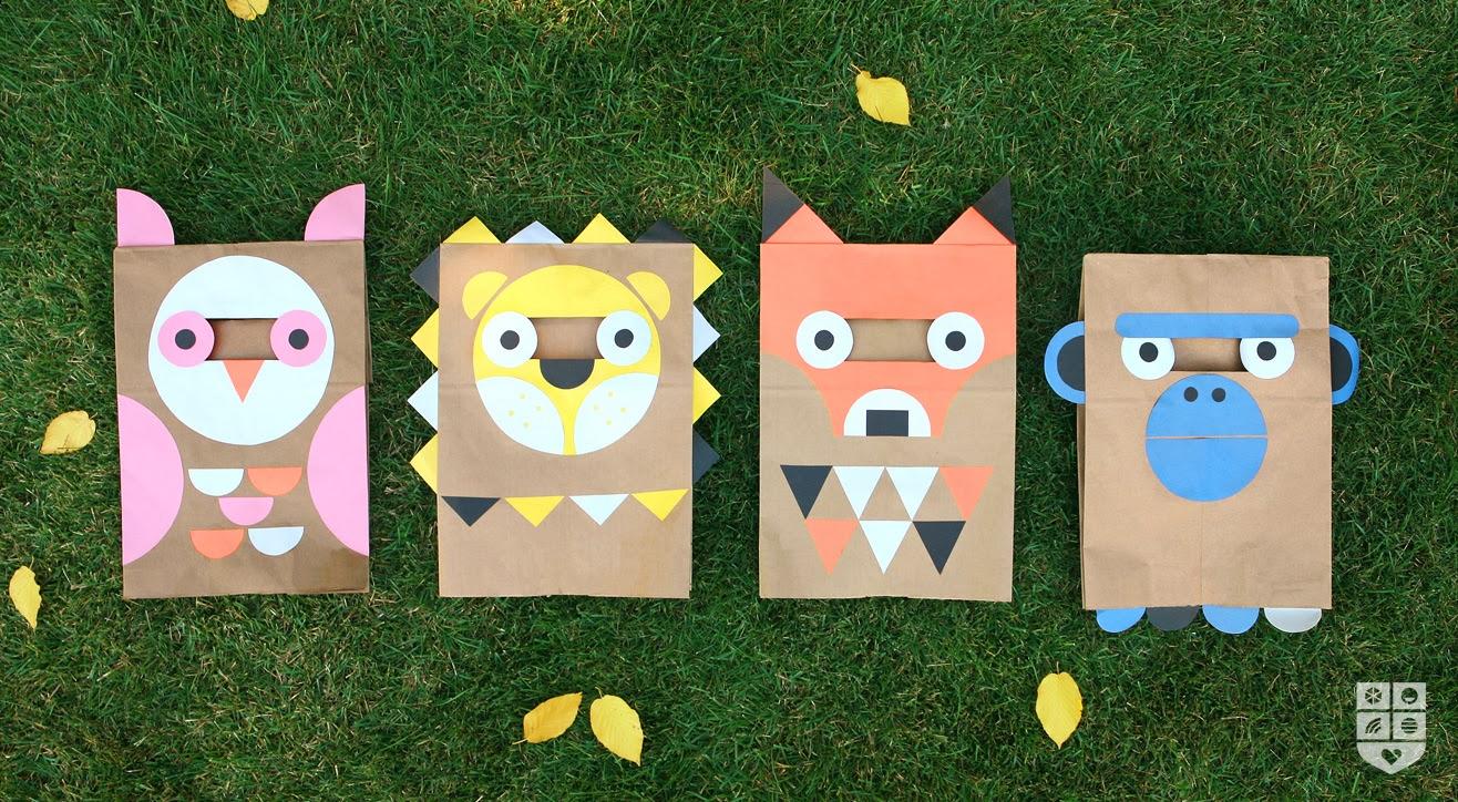 DIY Disfraz animales con bolsa de papel
