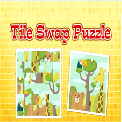 Tile Swap Puzzle (Logical Thinking Picture Puzzle Game)
