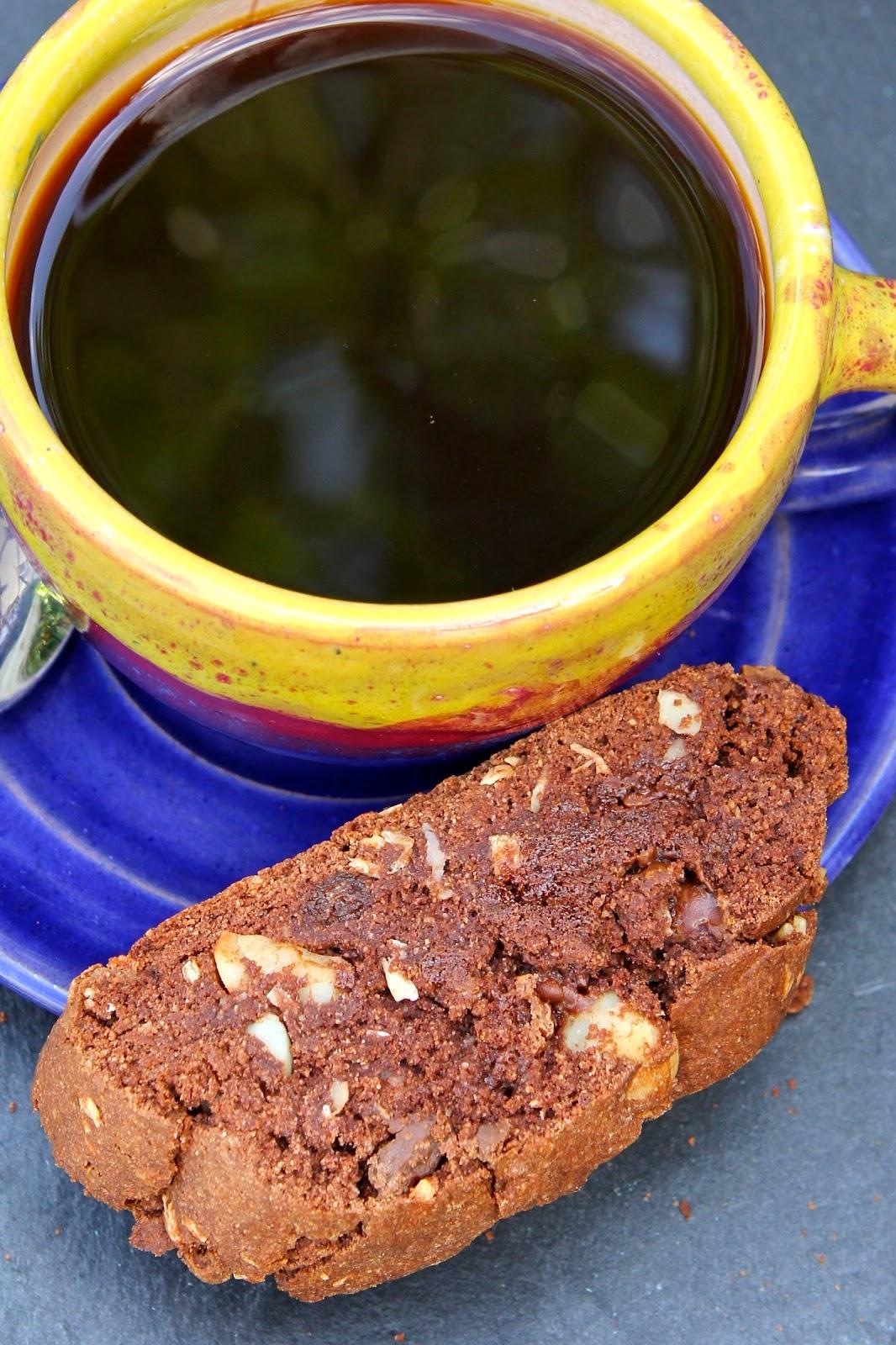 Double Chocolate, Coconut & Macadamia Biscotti (gluten free)