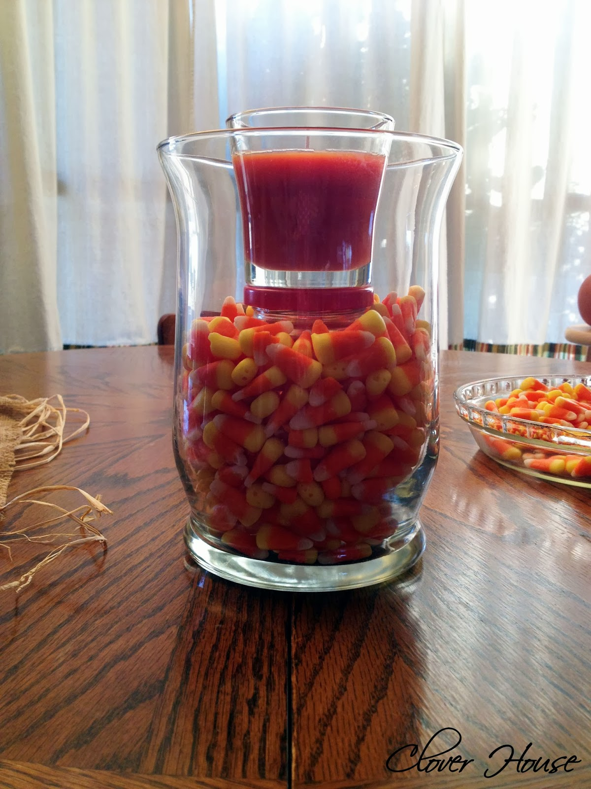 Clover house candy corn centerpiece easy and inexpensive