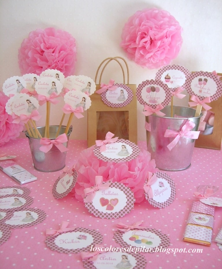 Los colores de pilar etiquetas de comuni n para mesas dulces - Mesas para comuniones ...