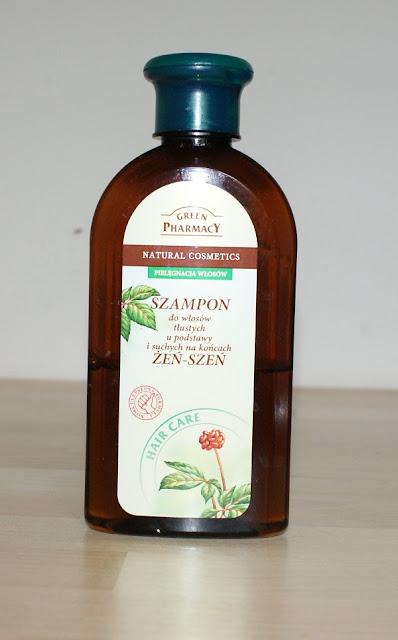 Green Pharmacy Szampon z żeń-szeniem do włosów tłustych u nasady i suchych na końcach