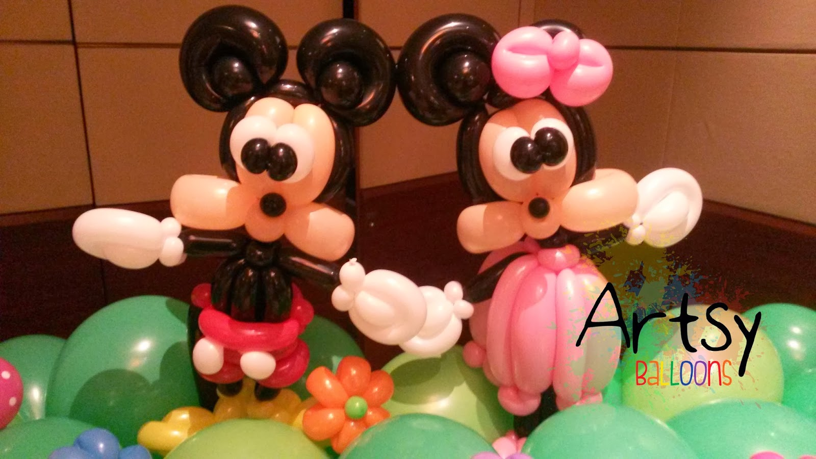 Ouji from artsyballoons official blog all about balloon for Balloon decoration minnie mouse