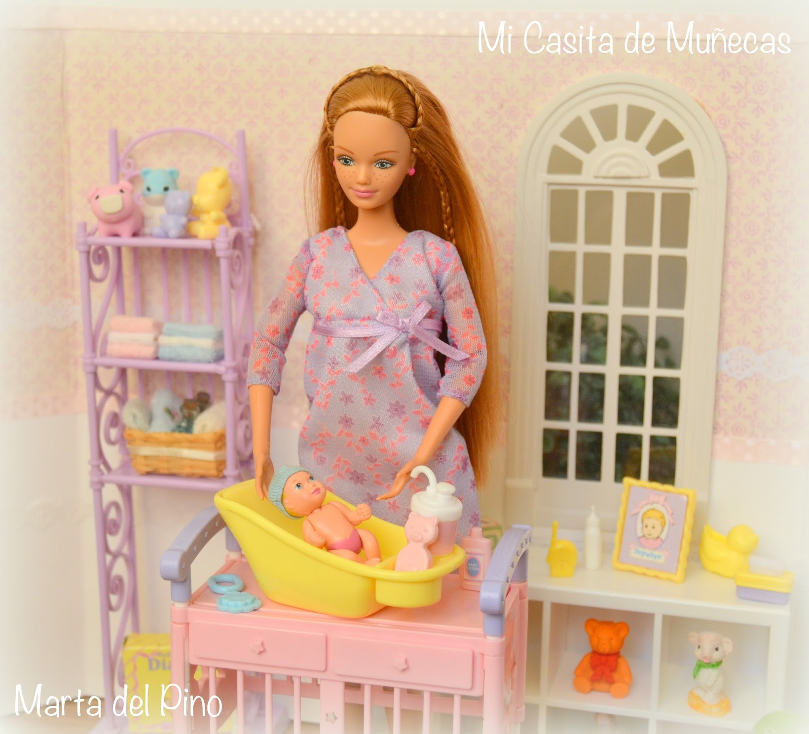 Barbie Midge Happy Family, embarazada, pregnant, bebe, Marta del Pino, Mi Casita de Muñecas