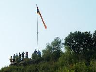 Zoom al cim del Turó de la Senyera des de la vessant de Puig-reig