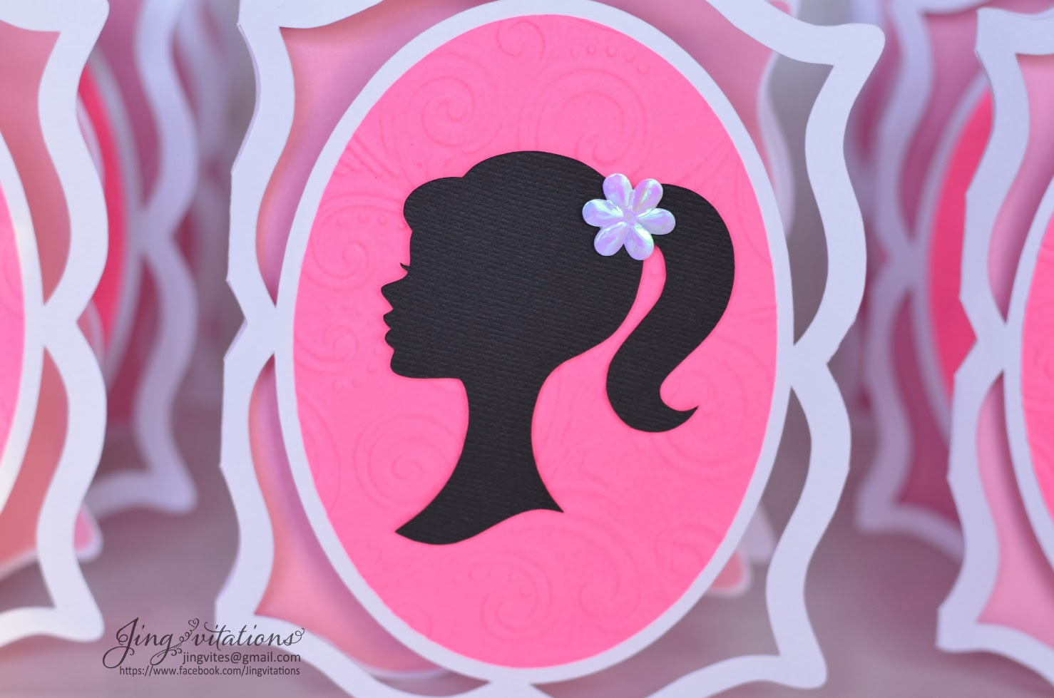 cricut barbie party invitations