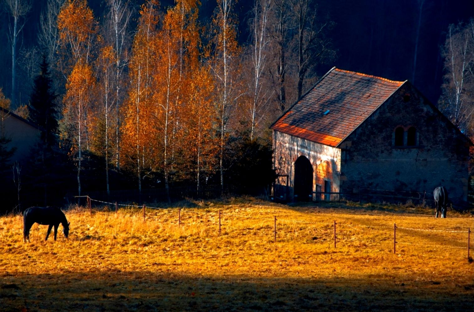 1680x1050 Farm in Autumn desktop PC and Mac wallpaper