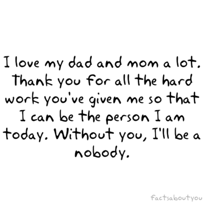 I Love You Mom N Dad Quotes : suddenly this night i thinking baout my parents. huhu.. i miss them :(