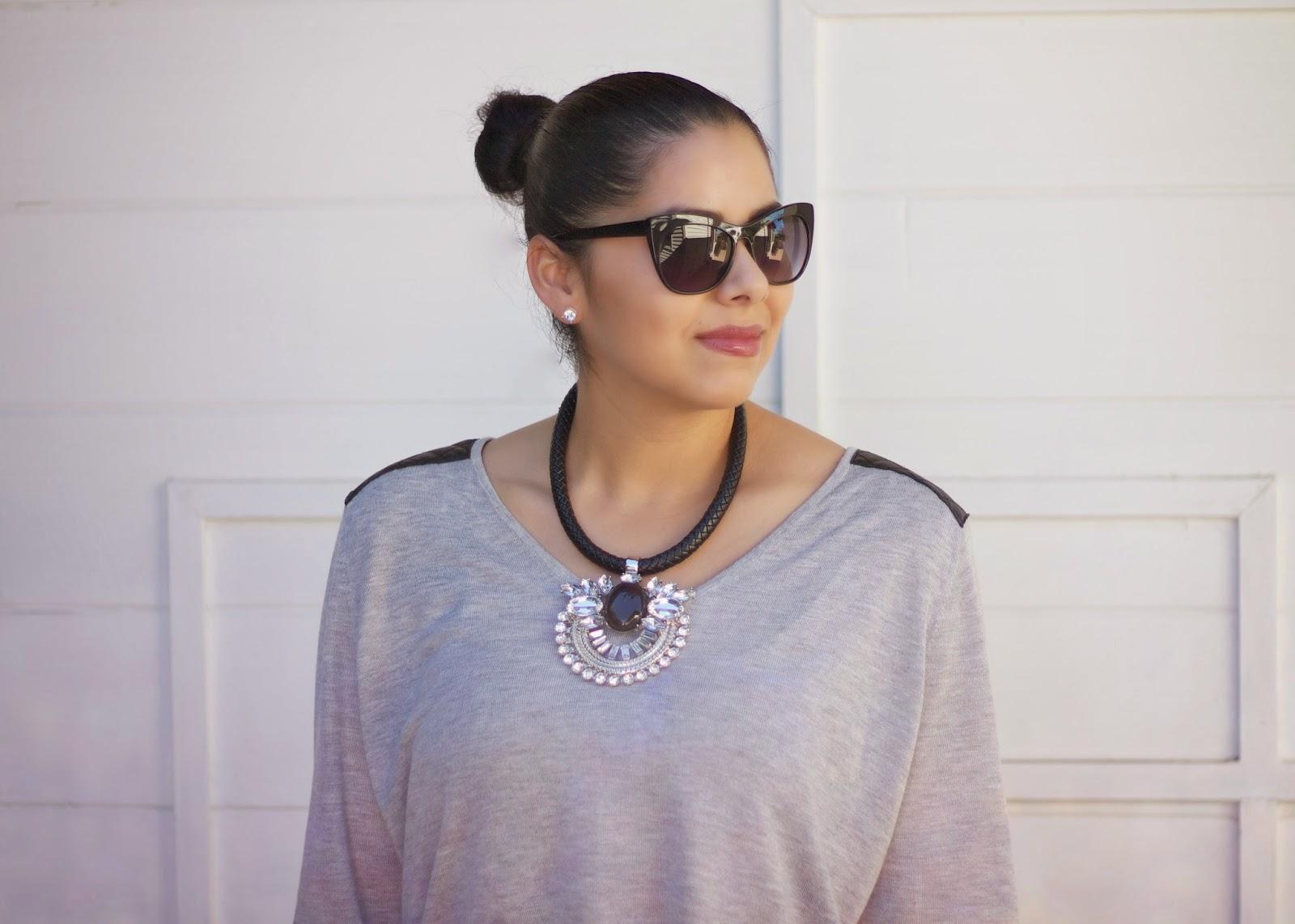 cateye sunnies, perfect cat eye sunglasses, cat eye sunglasses, statement necklace with pendant