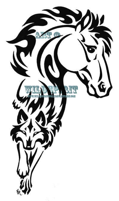 tribal horse tattoo. tribal heart tattoo designs.