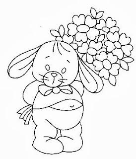 desenhos de coelhos para pintar