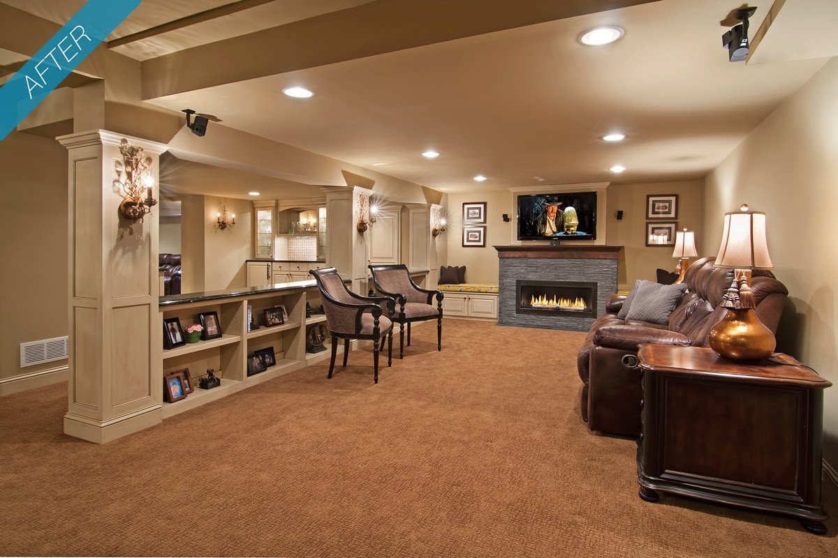 My home design basement furniture things - Basement makeover ideas ...