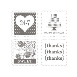 Stampin' Up! Pretty Postage Stamp Set Images