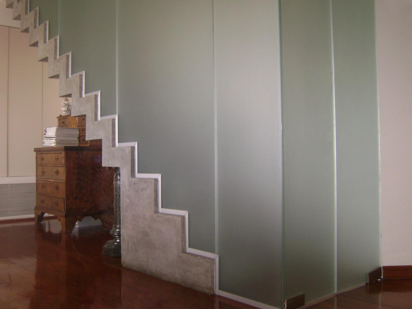 Dise o y arquitectura en vidrio - Cerramientos de escaleras ...