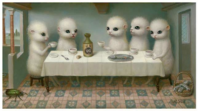 cute furry version of the last supper