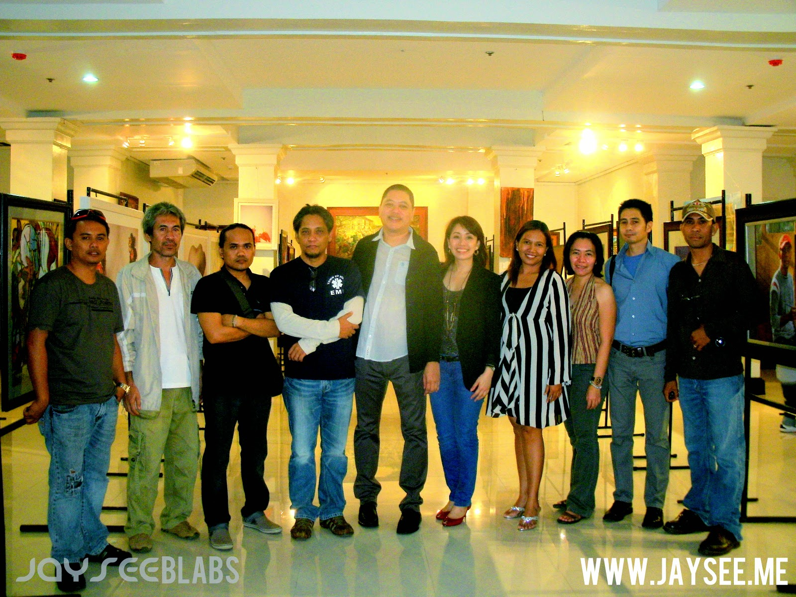 All the artist with Chief Executive Officer Mr. Jon Kenneth Gotiong, Gallery Partner Jo Ann M. Lim and Gallery Manager April May Tudtud-Ramos.