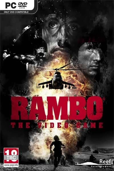 Rambo The Video Game Cover, Poster, Banner