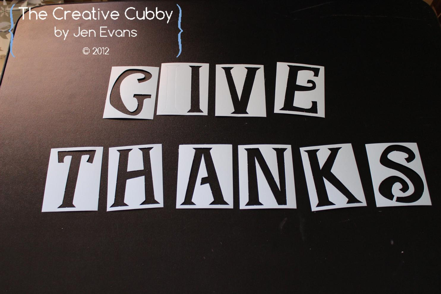 The Creative Cubby Give Thanks Burlap Bunting