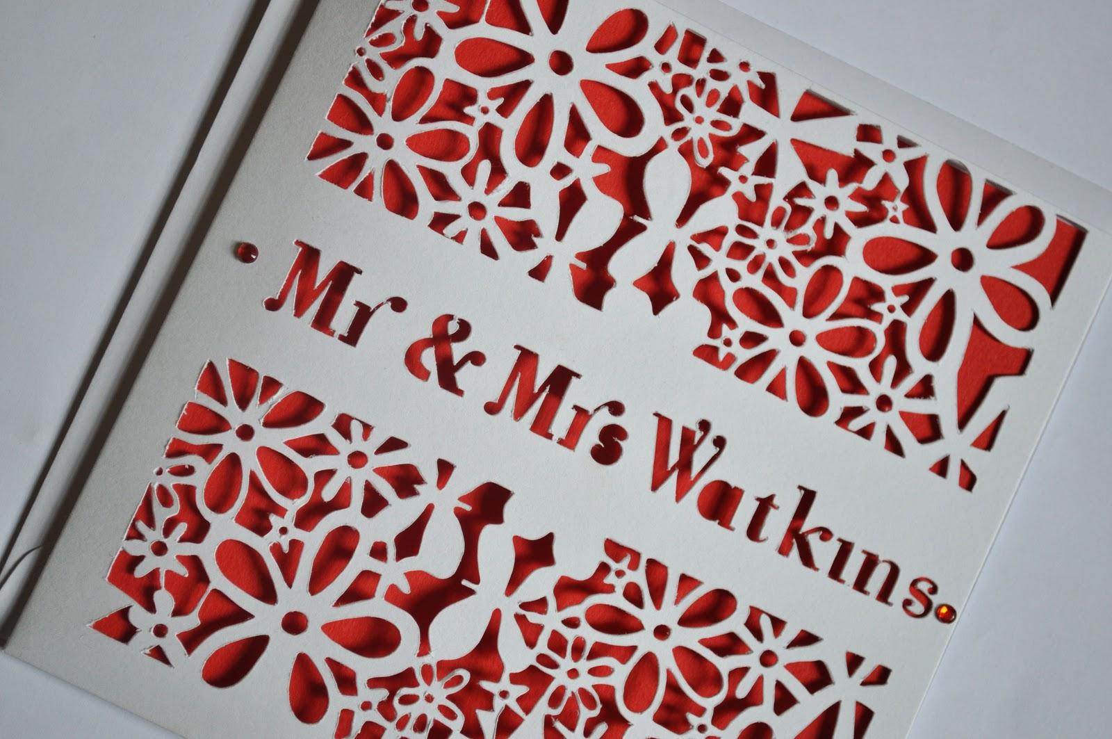 Sweet Pea Design: Personalised Deluxe Flower Laser Cut Wedding Card ...