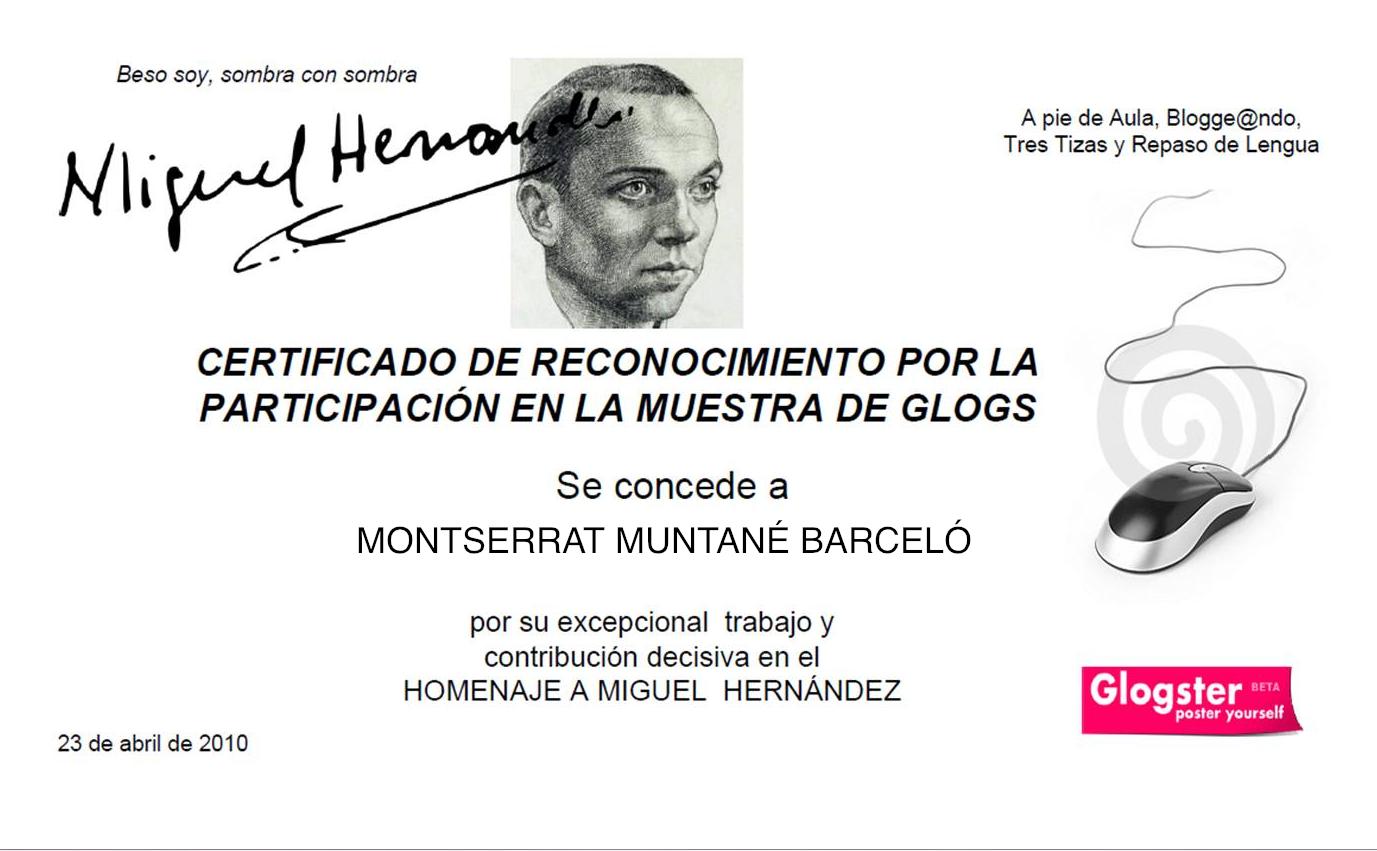Participación Homenaje a Miguel Hernández 2010