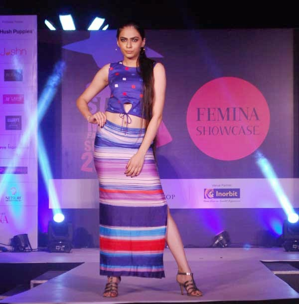 Models during the Femina Festive Showcase 2014