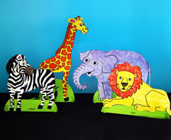 Standing Paper Animals