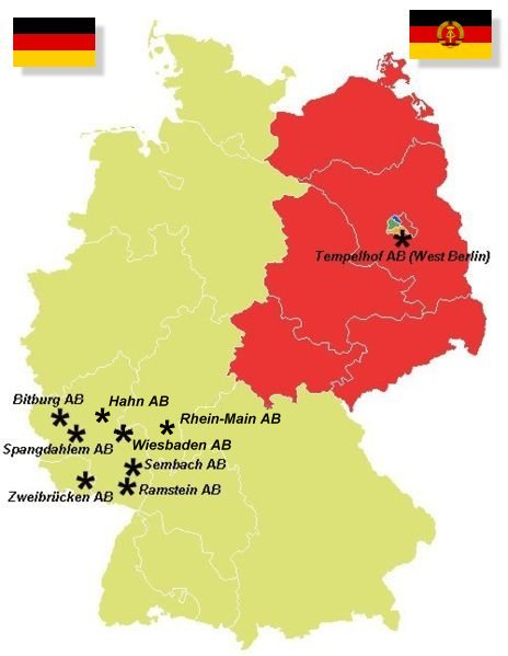 Us Air Force Bases In Germany VCFA - Us map of air force bases