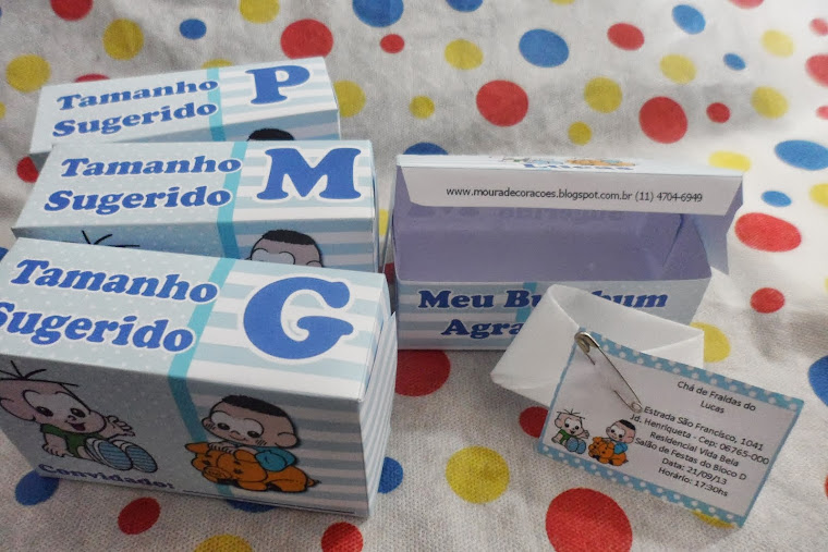 Convite Chá de Fraldas Menino