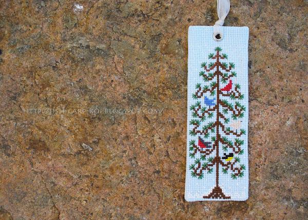 Закладка с вышивкой - дизайн от The Drawn Thread -  First snow