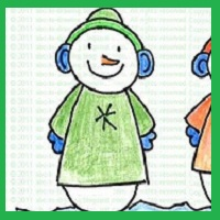 lucky snowman, how to draw lucky snowman, St. patrick's day