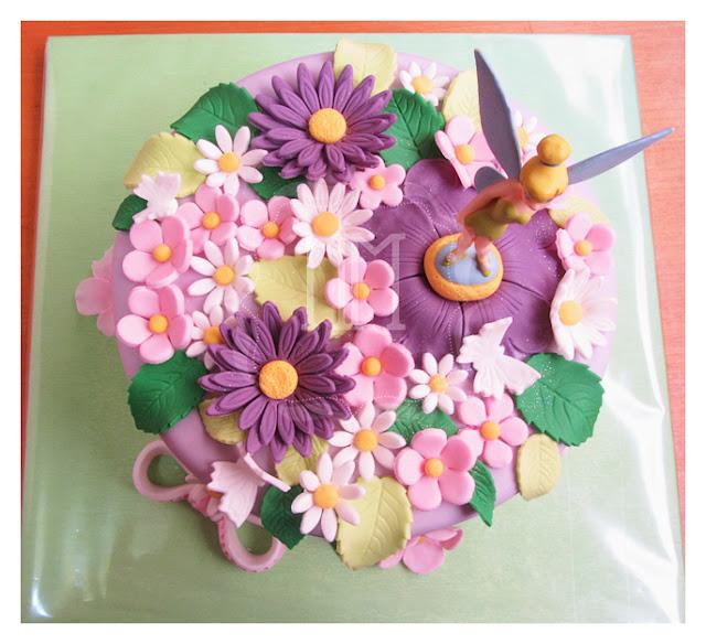 tarta decorada campanilla