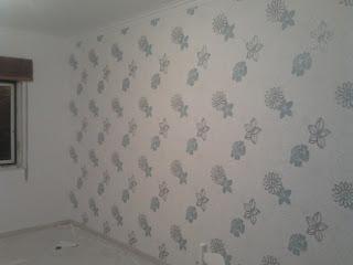 Papel de parede aplicado