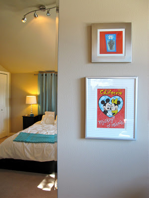 red and turquoise bedroom makeover